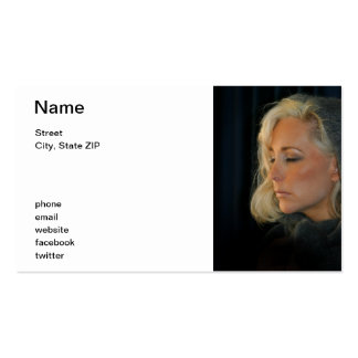 Blond Woman Relaxing Pack Of Standard Business Cards