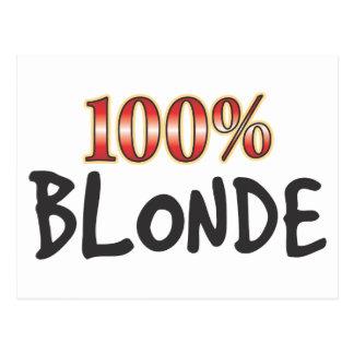 Blonde 100 Percent Postcards