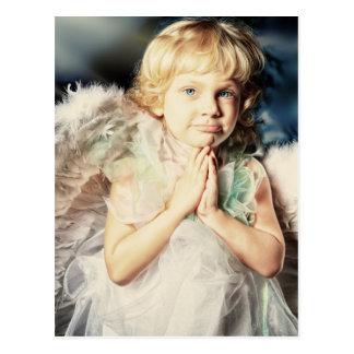 blonde angel of mine by healing love photo art postcard