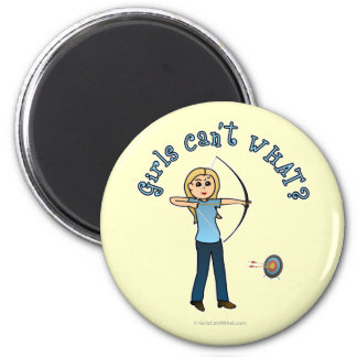 Blonde Archery in Blue Fridge Magnets