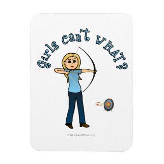 Blonde Archery in Blue Vinyl Magnet