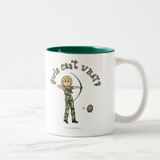 Blonde Archery in Camouflage Coffee Mugs