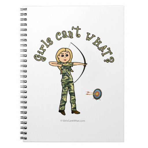Blonde Archery in Camouflage Note Books