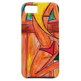 Blonde at the Tiki Bar iPhone 5 Cover