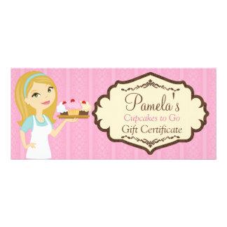Blonde Baker Cupcake D12 Gift Certificate 2 Full Colour Rack Card