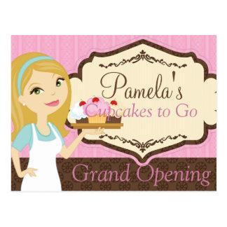 Blonde Baker Cupcake D12 Grand Opening Postcard 1