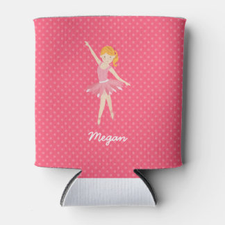 Blonde Ballerina with Pink Polka Dots