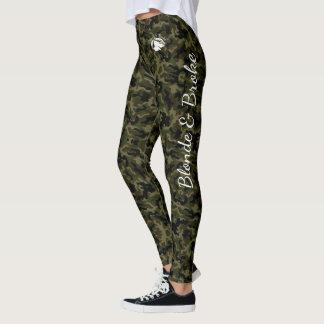 Blonde & Broke - Green Camouflage Leggings
