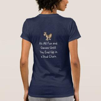 Blonde & Broke - Humor - White Logo T-Shirt