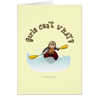 Blonde Female Kayaker Card