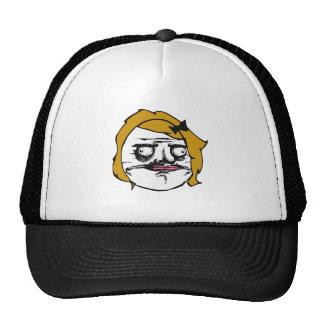 Blonde Female Me Gusta Comic Rage Face Meme Cap