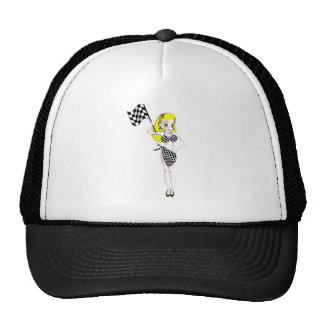 Blonde Flag Girl Cap