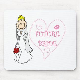 Blonde Future Bride Mouse Pad