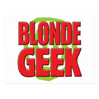 Blonde Geek Post Card