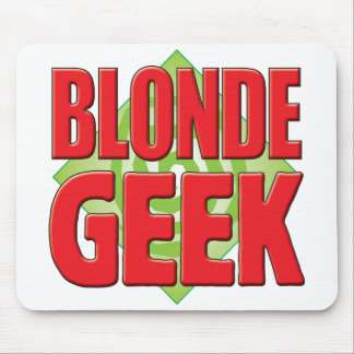 Blonde Geek v2 Mouse Pad