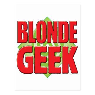 Blonde Geek v2 Post Card