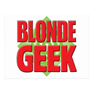Blonde Geek v2 Postcard
