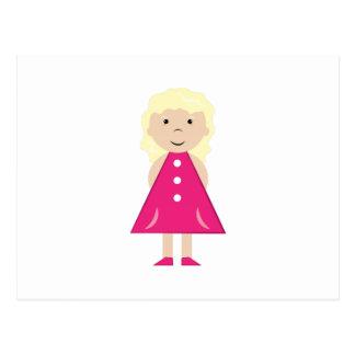 Blonde Girl Postcard