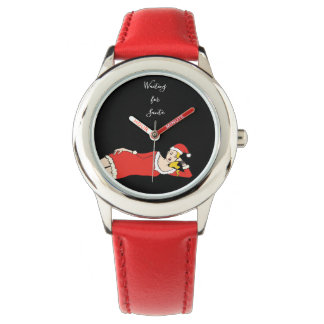 Blonde Girl Pretty Waiting for Santa Trendy Cool Watch