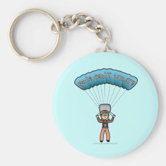 Blonde Girl Sky Diver Key Ring