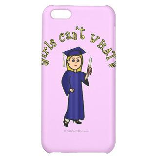 Blonde Graduate in Blue iPhone 5C Covers