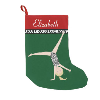 Blonde Gymnast Personalized Christmas