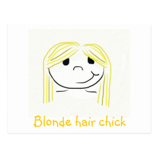 Blonde hair chick post card