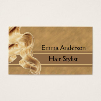 Blonde Hair Stylist Business Card Template