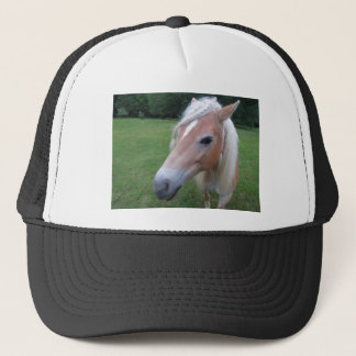 BLONDE HORSE TRUCKER HAT