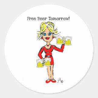 Blonde jillie FREE BEER TOMORROW Stickers