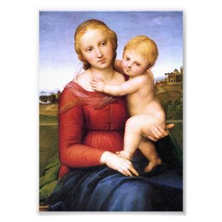 Blonde Madonna and Baby Jesus Photo Art