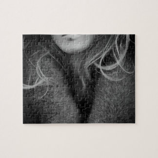 Blonde Mannequin in Black and White Jigsaw Puzzle