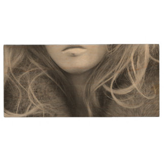 Blonde Mannequin Wood USB Flash Drive