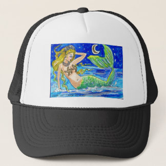 BLONDE MIDNIGHT MERMAID TRUCKER HAT