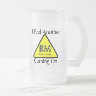Blonde Moment Frosted Glass Beer Mug