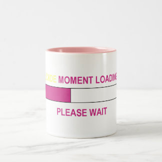 BLONDE MOMENT LOADING... Two-Tone COFFEE MUG