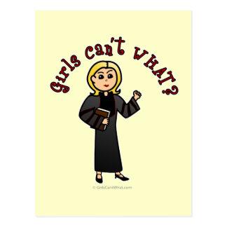 Blonde Pastor Girl Post Cards