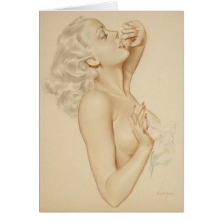 Blonde Pin Up Card