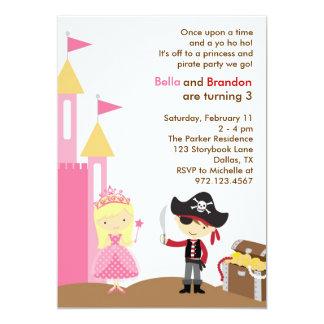 Blonde Princess and Pirate Invitation