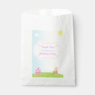 Blonde Princess Birthday Favour Bag