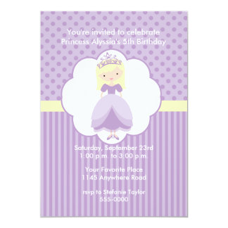 Blonde Princess Birthday Party Invitation