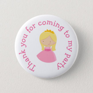 Blonde Princess thank you for coming Badge