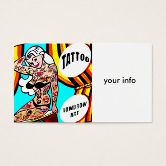 blonde tattooed lady business card