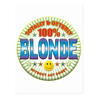 Blonde Totally Postcard