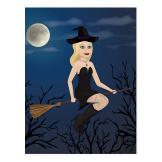 Blonde Witch Postcard