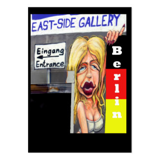 Blonde Woman, Berlin Wall, East Side Gallery (w23) Pack Of Chubby Business Cards