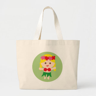 BlondeHulaGirl7 Large Tote Bag