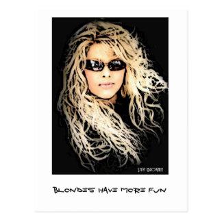 Blondes Have More Fun Postcard