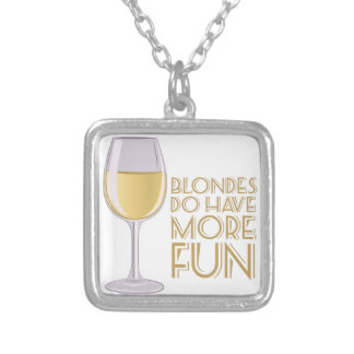 Blondes More Fun Silver Plated Necklace
