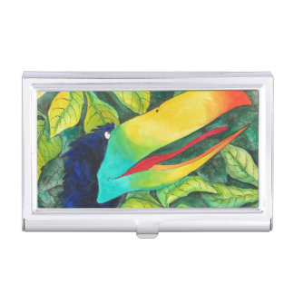 """Bloo Bird"" Art by Mike Quinn Business Card Holder"